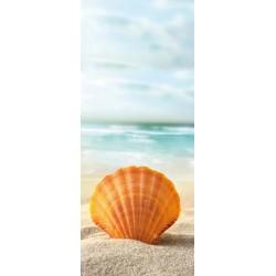 Deursticker Strand en schelp