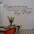 Muursticker enjoy the little things 2