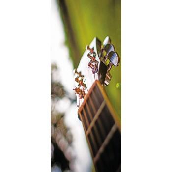 Deursticker gitaarhals