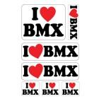 I Love BMX A4 stickervel