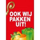 Ook wij pakken uit Sinterklaas Poster blue back paper 135 gram