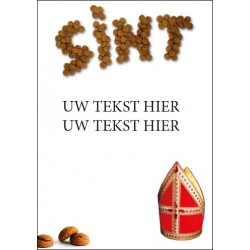 Sinterklaas Poster met eigen tekst blue back paper 135 gram