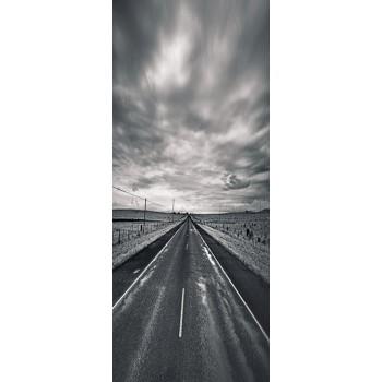 Deursticker autoweg zwart-wit