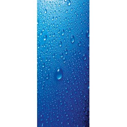 Deursticker Blauwe druppels