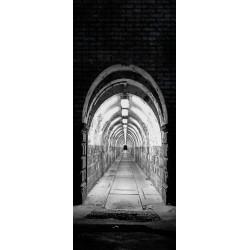 Deursticker Tunnel met lampen