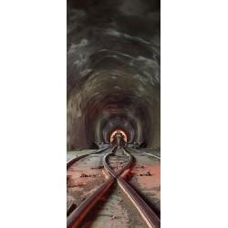 Deursticker Tunnel met spoor
