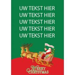Kerst Poster 1 met eigen tekst blue back paper 135 gram