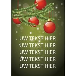 Kerst Poster 3 met eigen tekst blue back paper 135 gram