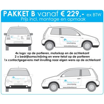 Offerteaanvraag personenauto pakket B