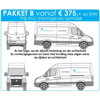 Offerteaanvraag bestelwagen pakket B