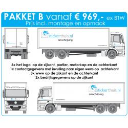 Offerteaanvraag vrachtwagen pakket B