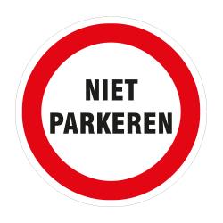 SP Niet Parkeren sticker 30cm