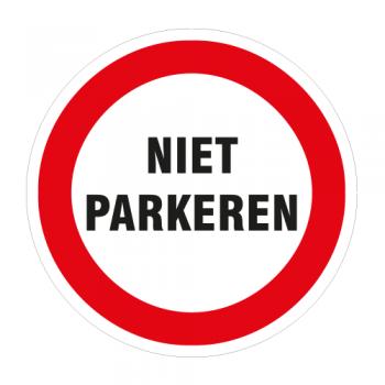SP Niet Parkeren sticker 25cm