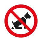 Verboden te poepen hond