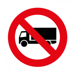 SP Verboden voor vrachtauto sticker 30cm