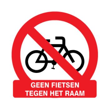 Geen fietsen tegen het raam