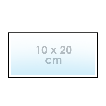 Ontwerp online: sticker 10 x 20 cm