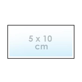 Ontwerp online: sticker 5 x 10 cm