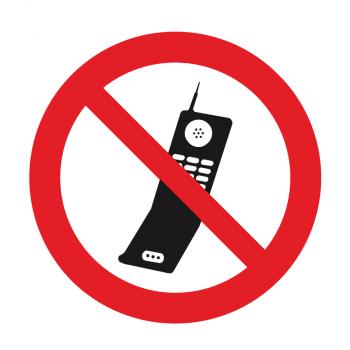 GSM toestellen verboden